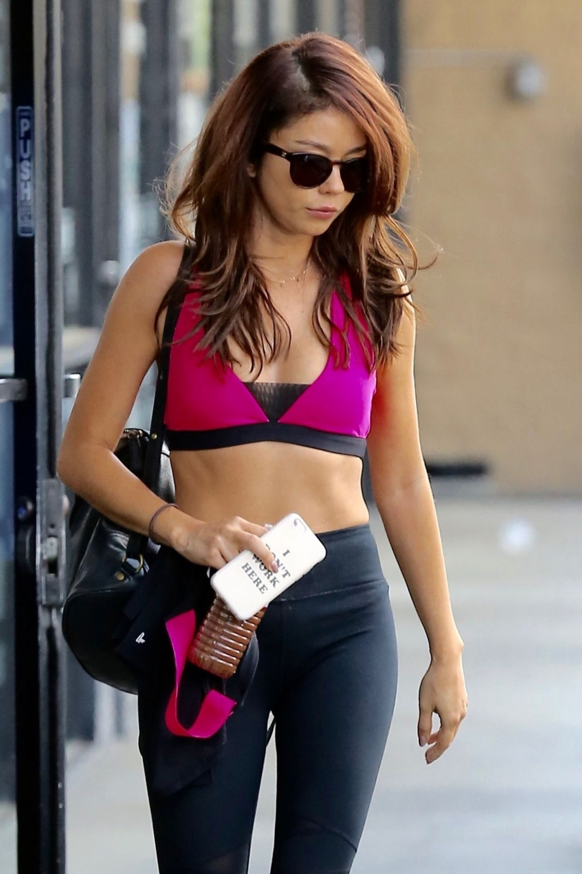 SARAH HYLAND in Tights Leaves a Gym in Los Angeles 09/01/2017