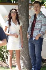 SARAH HYLAND on the Set of Modern Family in Los Angeles 09/15/2017