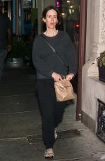 SARAH PAULSON Out Dinnert in Philadelphia 09/24/2017