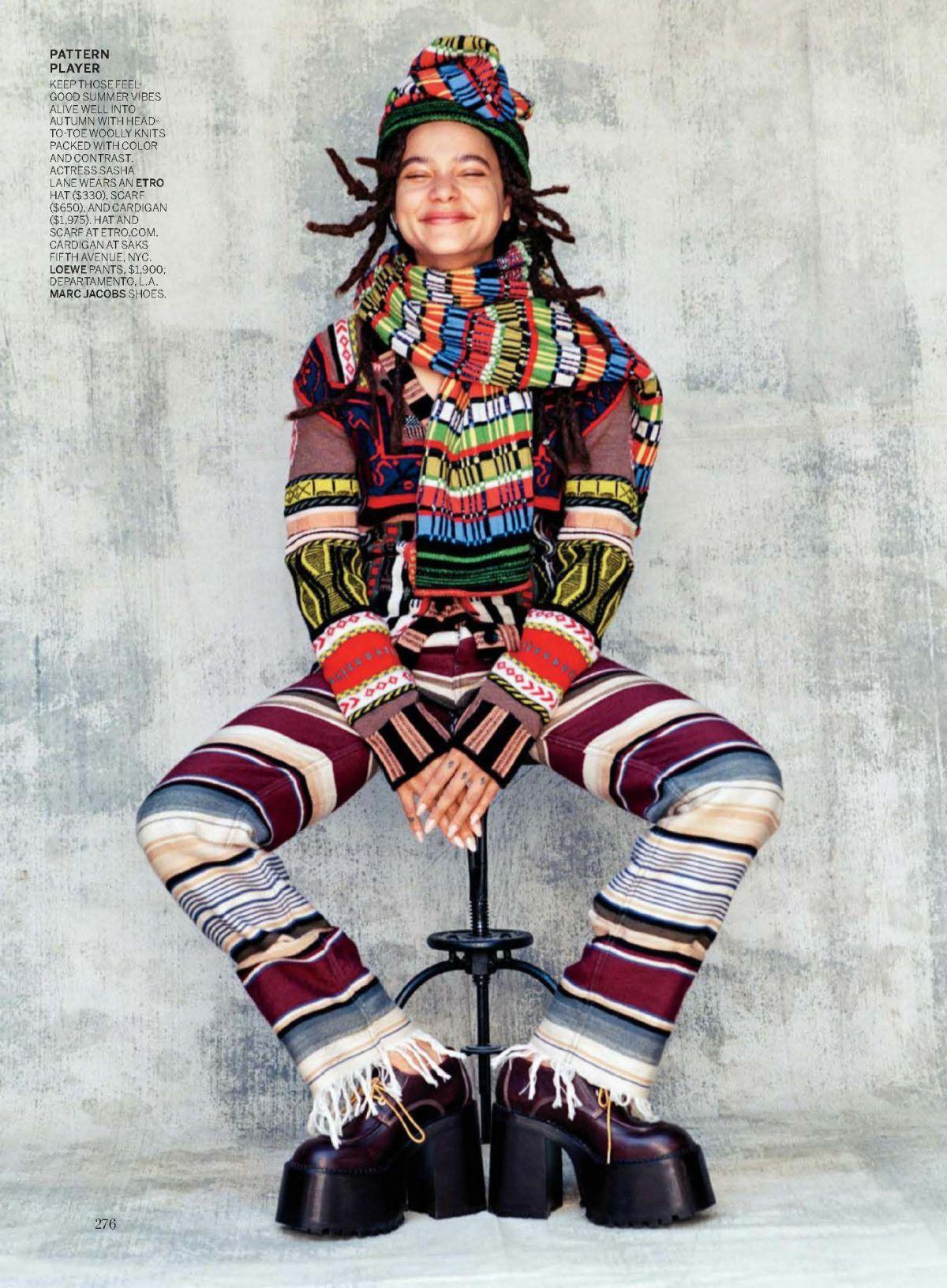 SASHA LANE for Vogue Magazine, October 2017