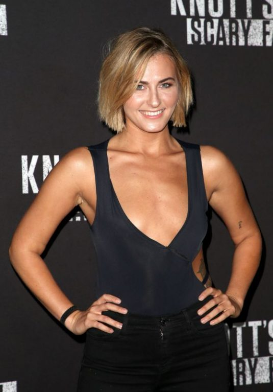 SCOUT TAYLOR-COMPTON at Knott's Scary Farm Celebrity Night in Buena Park 09/29/2017