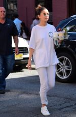 SELENA GOMEZ Out and About in New York 09/04/2017