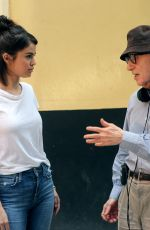 SELENA GOMEZ and Woody Allen on the Set of Woody