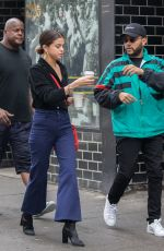 SELENA GOMEZ ant The Weeknd Out for Coffee in New York 09/03/2017