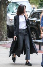 SELENA GOMEZ at Woody Allen Movie Set in New York 09/21/2017