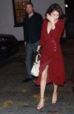 SELENA GOMEZ Leaves Stage Door for Dear Evan Hansen in New York 09/28/2017