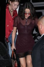 SELENA GOMEZ Night Out in New York 09/12/2017