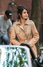 SELENA GOMEZ on the Set of a Woody Allen Movie in New York 09/11/2017