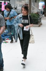 SELENA GOMEZ on the Set of a Woody Allen Movie in New York 09/18/2017