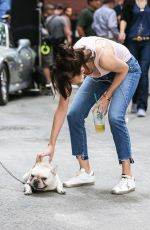 SELENA GOMEZ on the Set of a Woody Allen New Movie in New York 09/21/2017
