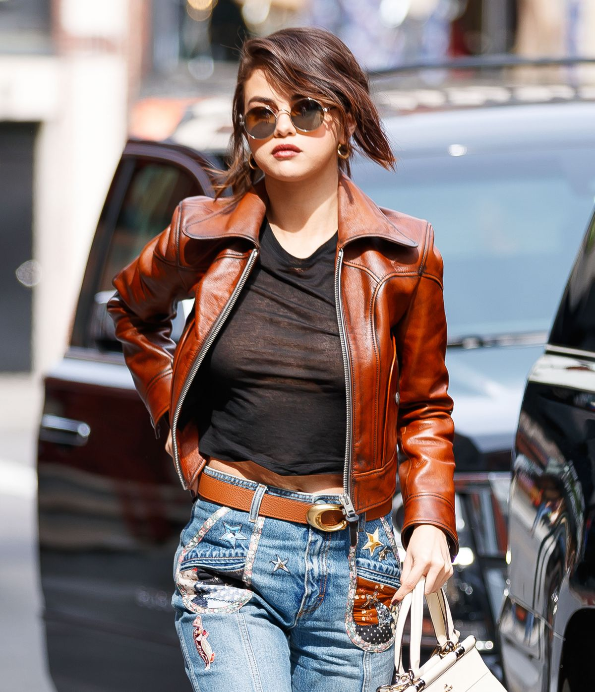 SELENA GOMEZ Out and About in New York 09/12/2017
