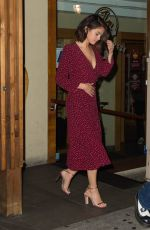 SELENA GOMEZ Out for Sushi in New York 09/28/2017