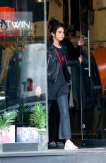 SELENA GOMEZ Out Shopping in New York 09/02/2017