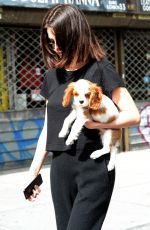 SELENA GOMEZ Out with Her Dog in New York 09/19/2017
