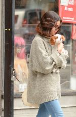 SELENA GOMEZ Out with Her Dog in New York 09/20/2017
