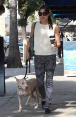 SELMA BLAIR Out with Her Dog in Los Angeles 09/20/2017