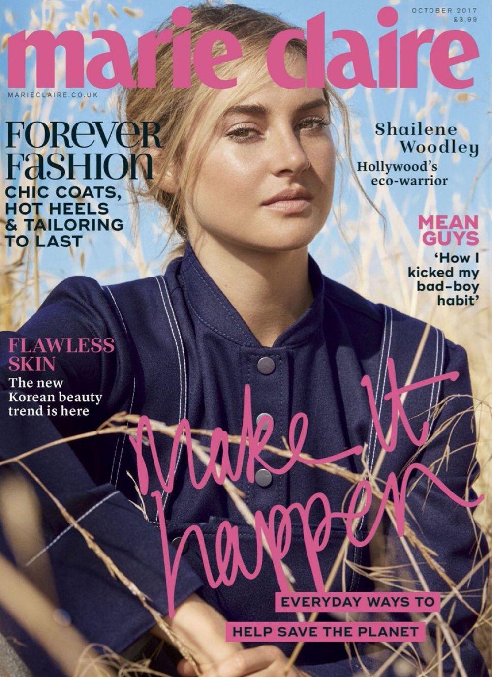 SHAILENE WOODLEY for Marie Claire Magazine, UK October 2017