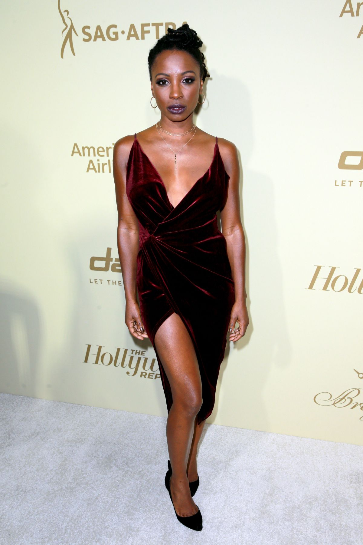 SHANOLA HAMPTON at Hollywood Reporter and Sag-aftra Nominees Night in Beverly Hills 09/14/2017