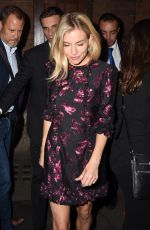 SIENNA MILLER Leaves Apollo Theatre in London 08/31/2017