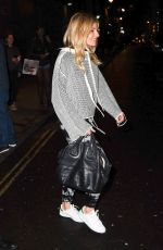 SIENNA MILLER Leaves Apollo Theatre in London 09/05/2017