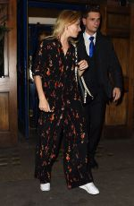 SIENNA MILLER Leaves Apollo Theatre in London 09/13/2017