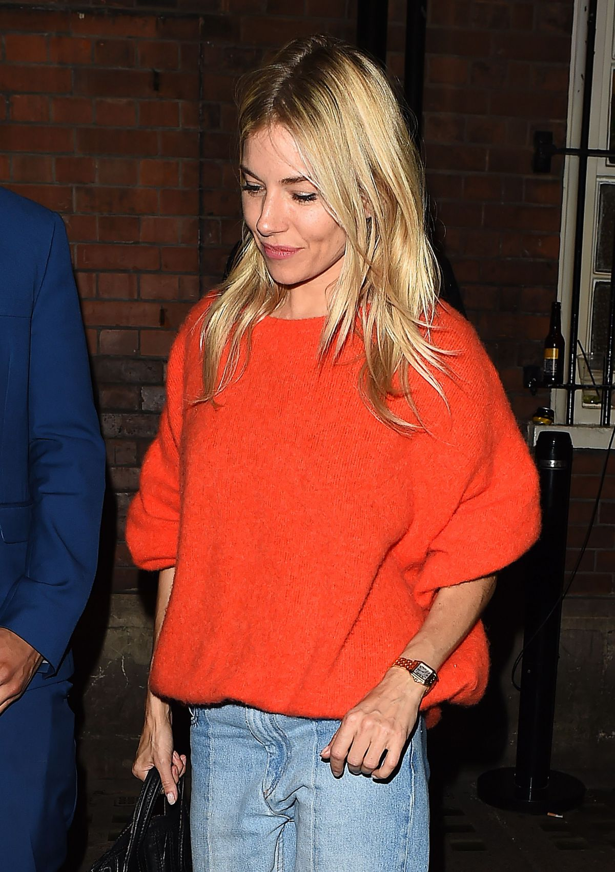 SIENNA MILLER Leaves Her Performance in Cat on a Hot Tin Roof in London 09/01/2017