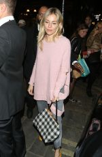 SIENNA MILLER Out and Aboout in London 09/28/2017