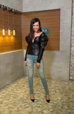 SOFIA CARSON Arrives at Extra in Universal Studios in Hollywood 08/31/2017