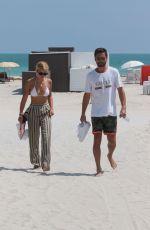 SOFIA RICHIE in Bikini Top at a Beach in Miami 09/21/2017
