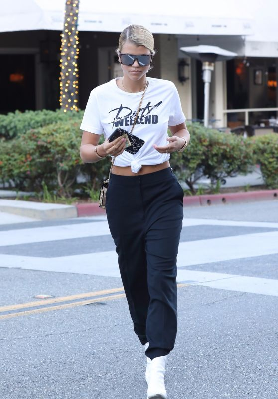 SOFIA RICHIE Out and About in Beverly Hills 09/27/2017