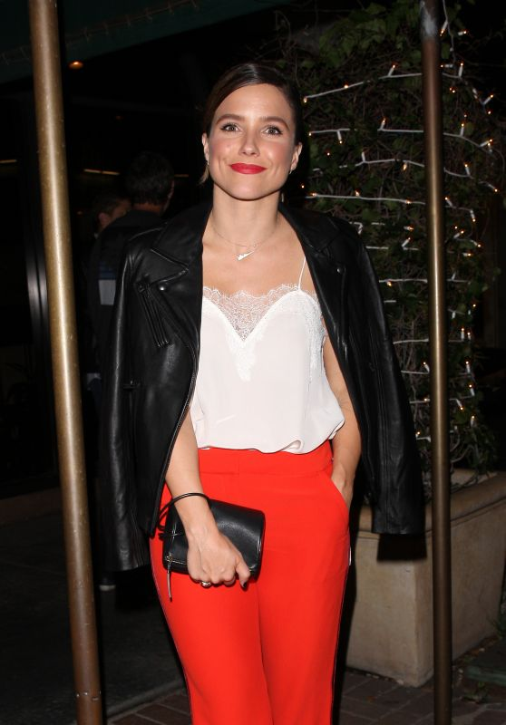 SOPHIA BUSH Out for Dinner in Los Angeles 09/22/2017