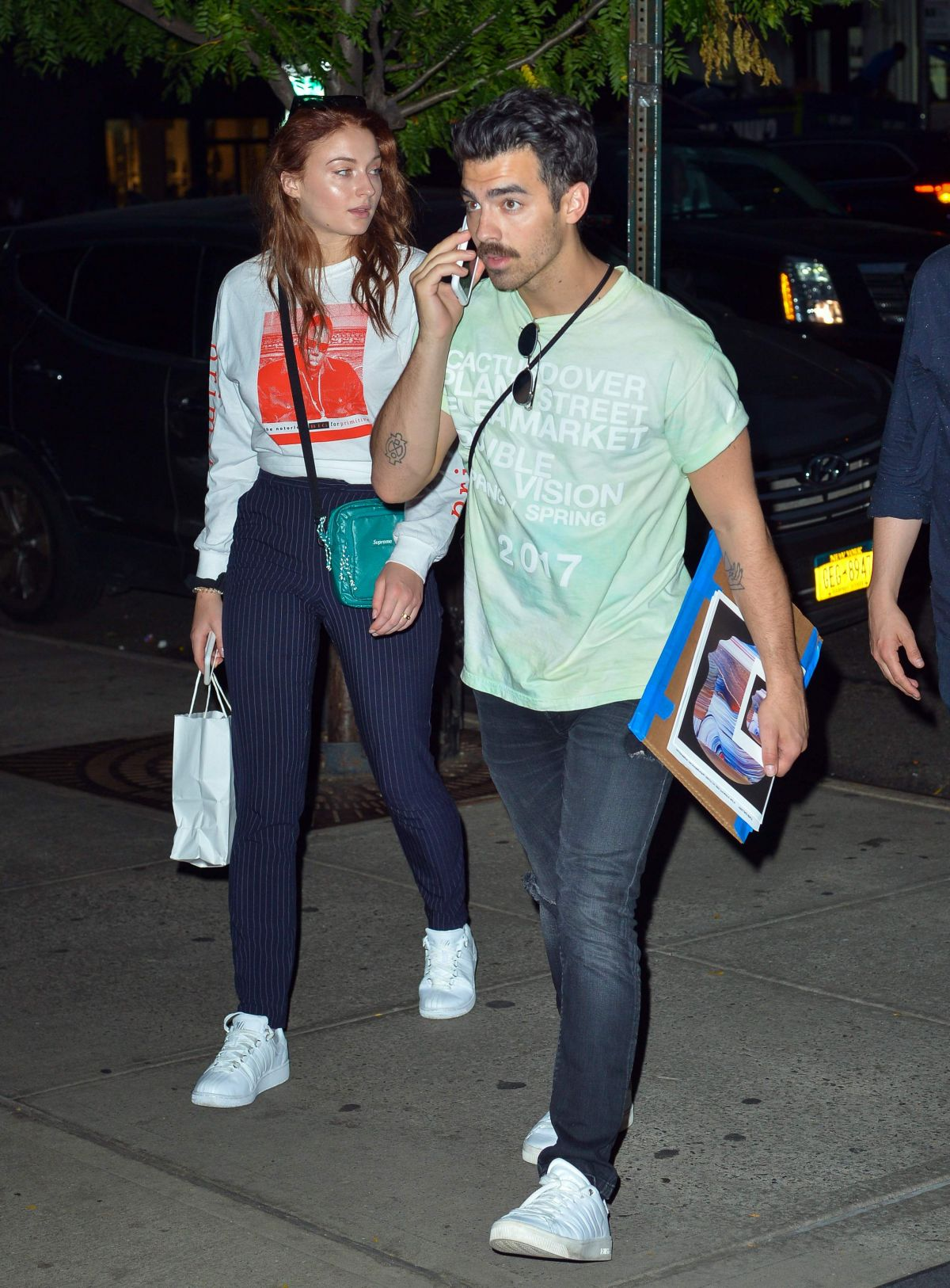 SOPHIE TURNER and Joe Jonas Out in New York 09/14/2017