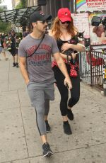 SOPHIE TURNER and Joe Jonas Out with Their Dog in New York 09/07/2017