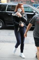 SOPHIE TURNER Out with Her Dog in New York 09/14/2017