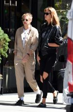 STELLA MAXWELL and KRISTEN STEWART Out for Lunch in Little Italy in New York 08/31/2017