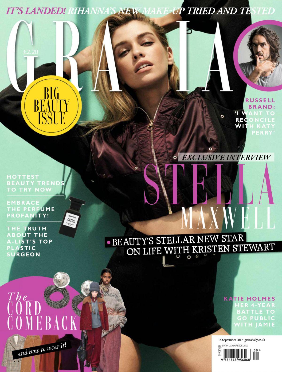STELLA MAXWELL for Grazia Magazine, September 2017