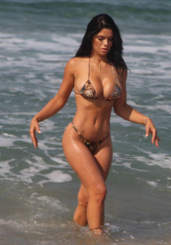 SUELYN MEDEIROS in Bikini at a Beach in Malibu 09/28/2017