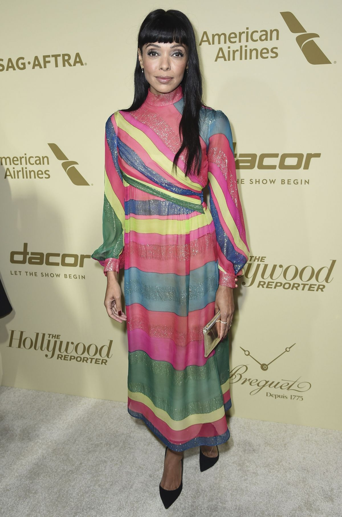 TAMARA TAYLOR at Hollywood Reporter and Sag-aftra Nominees Night in Beverly Hills 09/14/2017