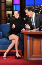 TATIANA MASLANY at Late Show with Stephen Colbert 09/22/2017