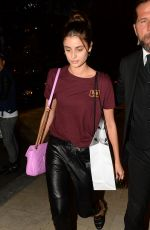 TAYLOR HILL Arrives at Her Hotel in Milan 09/20/2017
