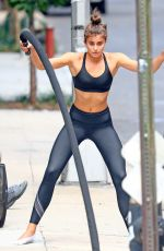 TAYLOR MARIE HILL Working Out in New York 09/11/2017