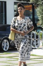 THANDIE NEWTON Leaves Gracias Madre in West Hollywood 08/31/2017