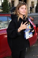 THYLANE BLONDEAU Out and About in Paris 09/29/2017