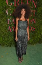 TINA KUNAKEY at Green Carpet Fashion Awards in Milan 09/24/2017
