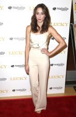 TROIAN BELLISARIO at Lucky Premiere in Los Angeles 09/26/2017