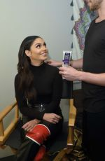 VANESSA HUDGENS Getting Final Touches Backstage at CBS Studios in Los Angeles 09/25/2017