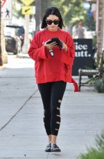 VANESSA HUDGENS Heading to a Gym in Studio City 09/07/2017