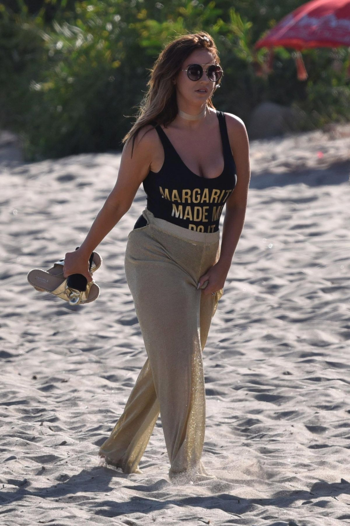 VICKY PATTISON Filming New TV Project on the Beach in Marbella 09/15/2017