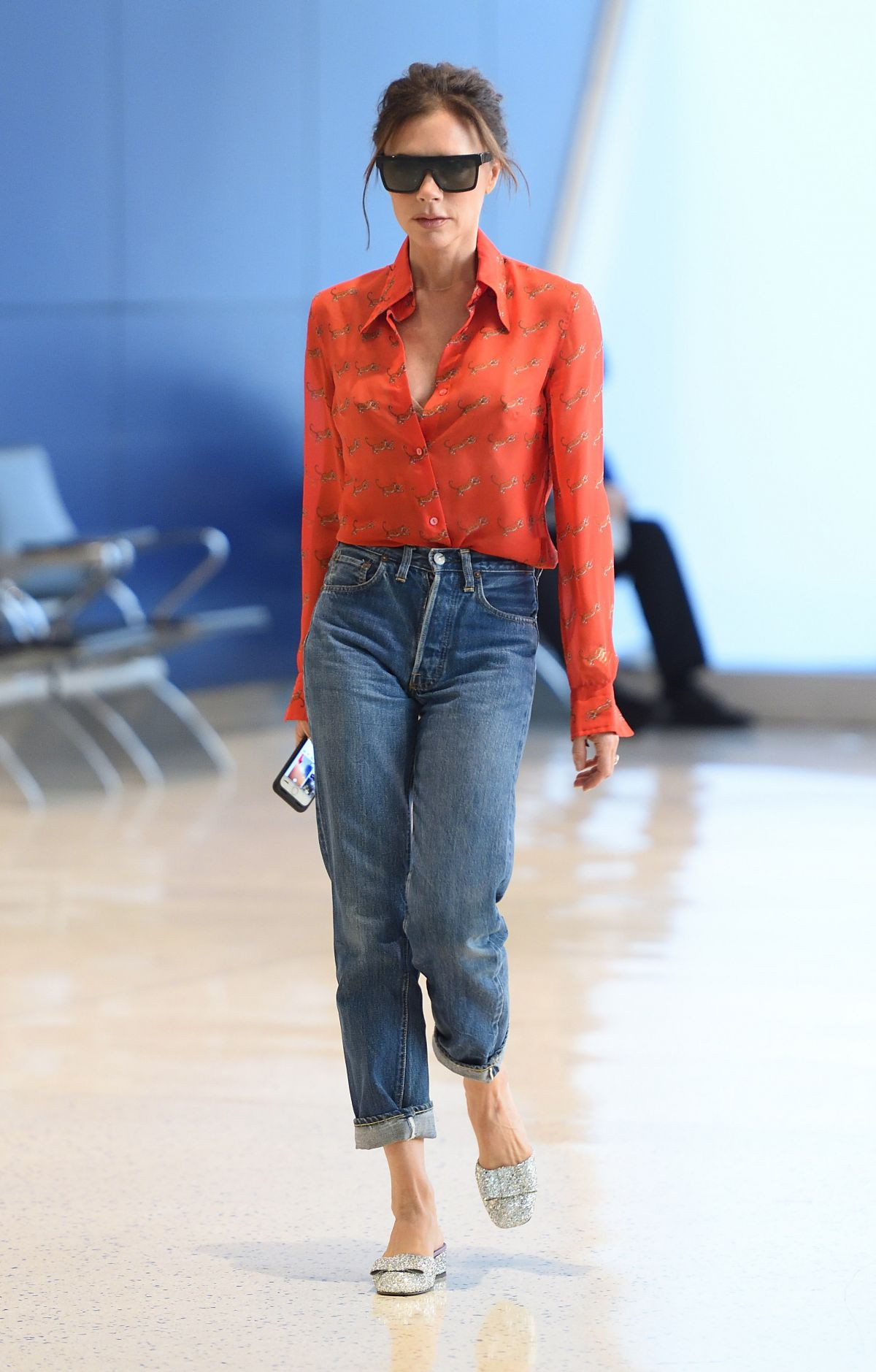VICTORIA BECKHAM Arrives at JFK Airport in New York 09/15/2017
