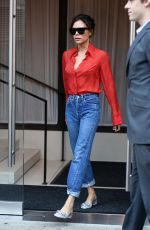 VICTORIA BECKHAM Leaved Her Hotel in New York 09/15/2017
